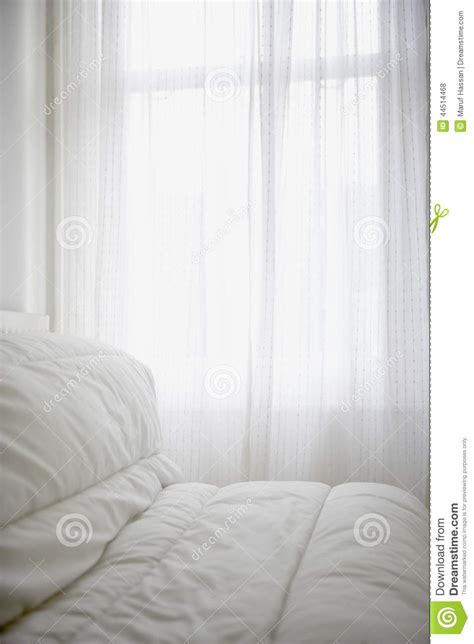 comfortable bed covers comfortable mattress cover on a bed room stock photo
