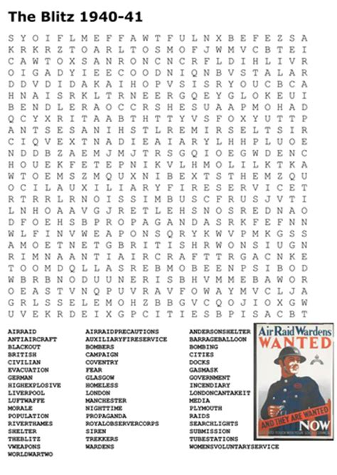 Ww1 Search World War 2 Grids And Word Search By Uk Teaching Resources Tes