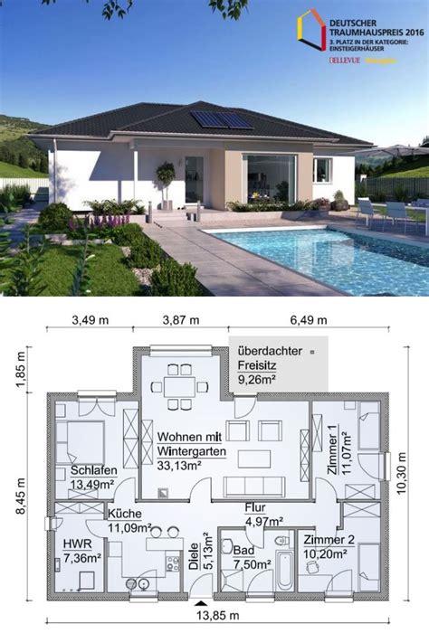 fertighaus bungalow modern aus holz grundriss
