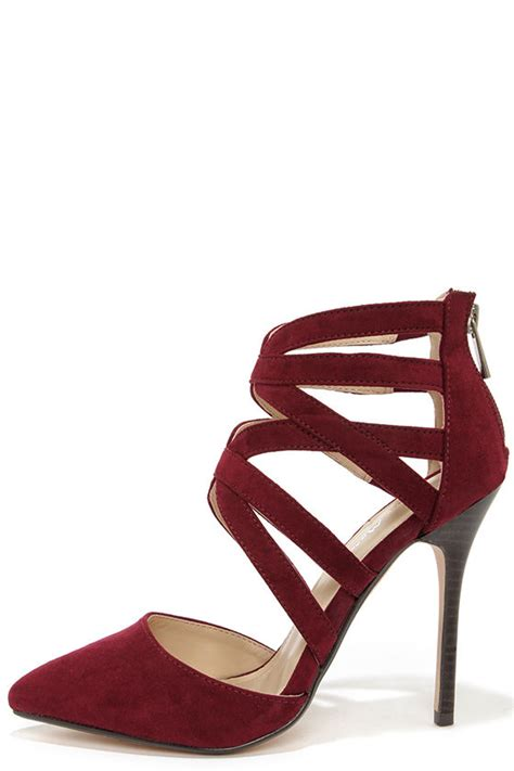 Sendal Wedges Stileto High Heels Wanita Bahan Suede Best Seller oxblood heels caged heels heels 39 00