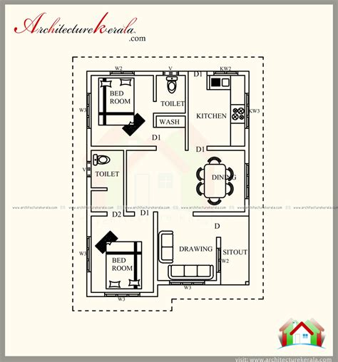 2 bedroom house plan and elevation in 700 sqft 700 square feet house plan with new different contemporary