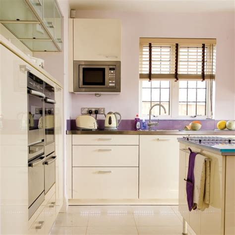 Kitchen Paint Lilac Appliances Take A Tour Around This Modern Lilac Accented