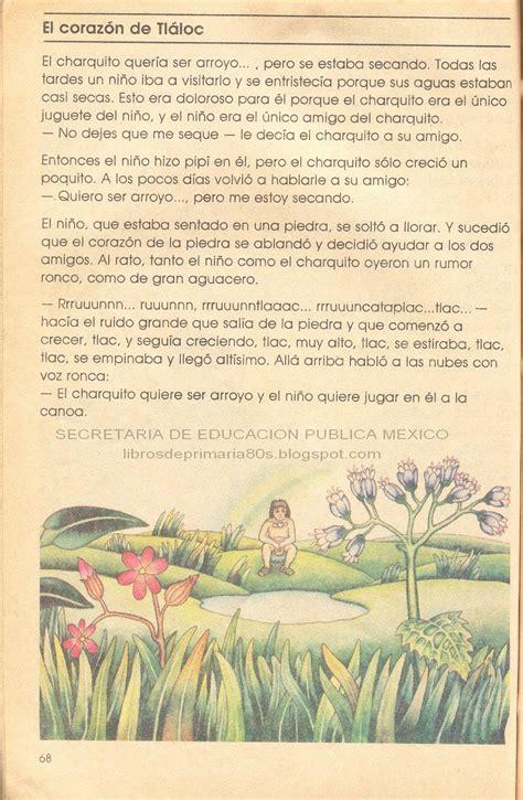 libro de lectura de los tiempos en que la y an era i libros de primaria de los 80 s el coraz 243 n de tl 225 loc