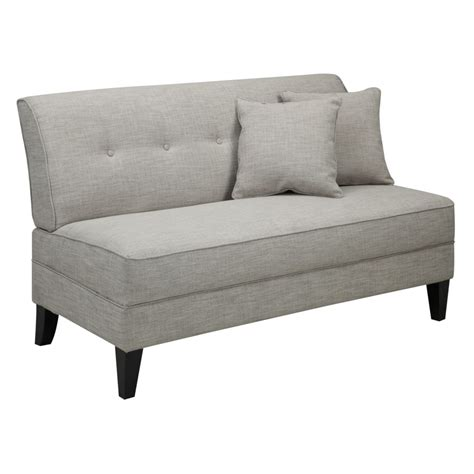 small loveseat sofa small armless sofa armless apartment sofa as for small thesofa