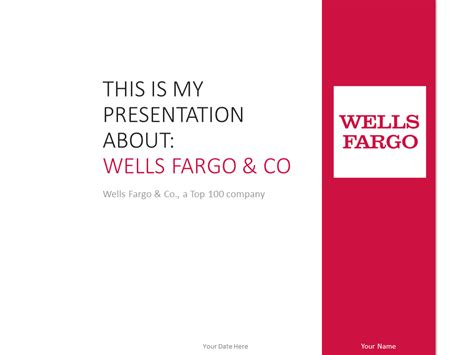 Wells Fargo PowerPoint Template Red   PresentationGO.com