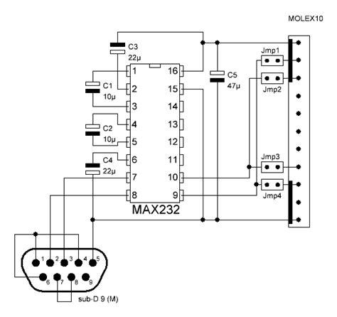 Rs232 To 0 5v Da Converters nigel s pic tutorial rs232 board