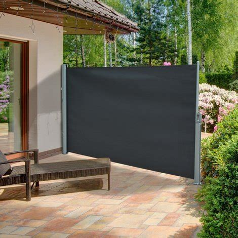 Patio Windbreak Awning Outsunny Garden Patio Side Awning For Vertical Attachment