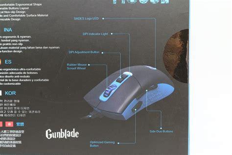 Mouse Sades Gunblade 賽德斯sades gunblade狼刀槍rgb電競滑鼠 價格親民 功能強大 電腦討論 卡提諾論壇 日本 logo 技巧