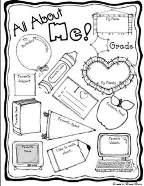 25 best ideas about all about me worksheet on