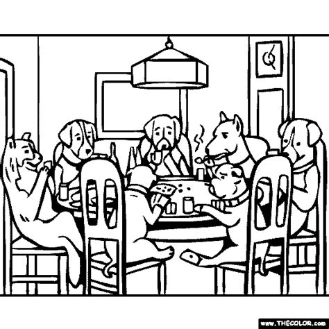 dogs playing poker coloring page poker coloring pages