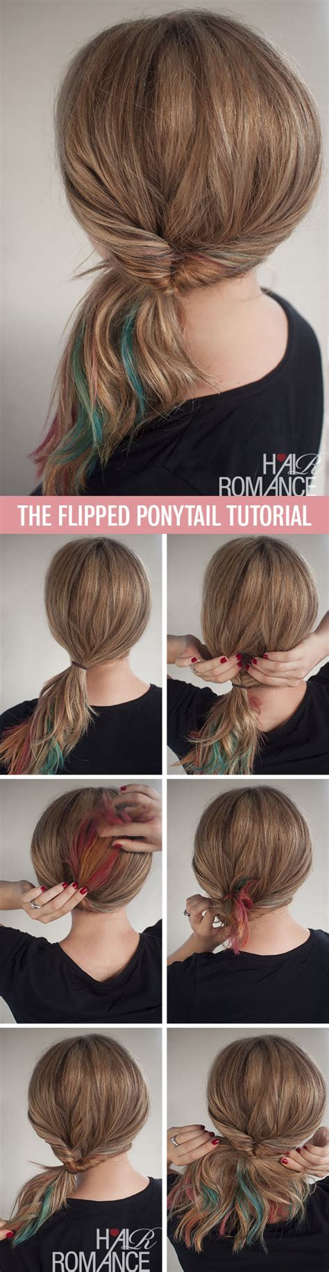 cute hairstyle steps get cute hair in less than 1 minute the flipped ponytail