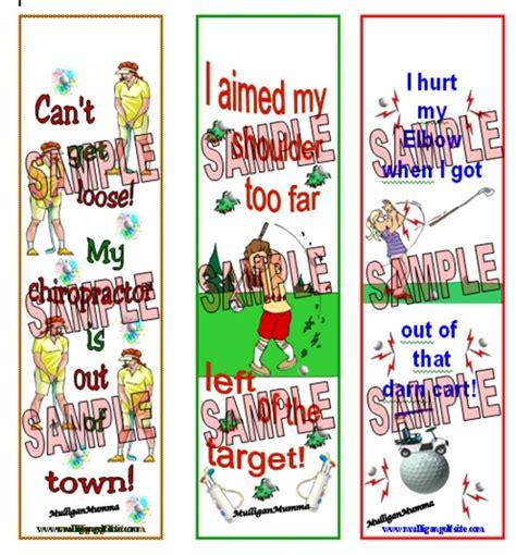 printable golf bookmarks mulligan golf bookmarks excuses 2 mulligan golf