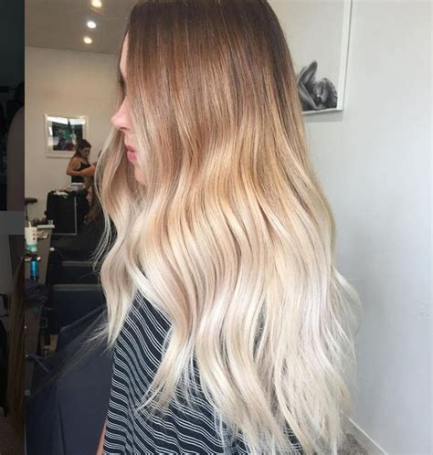 ombre bunette blonde brunette on bottom blonde ombr 233 wavy hair cute hair color pinterest