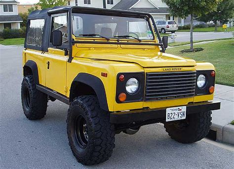 land rover yellow 1995 land rover defender 90 vehicle 5 the yellow d90