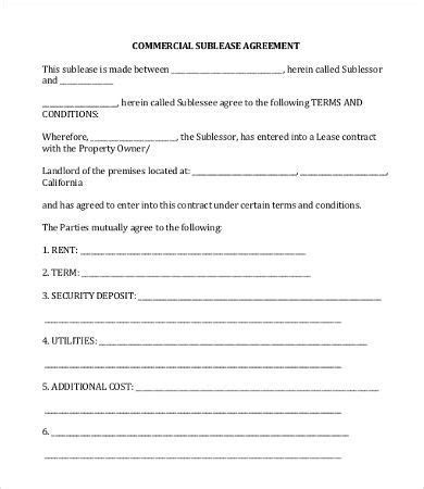 simple commercial lease agreement template