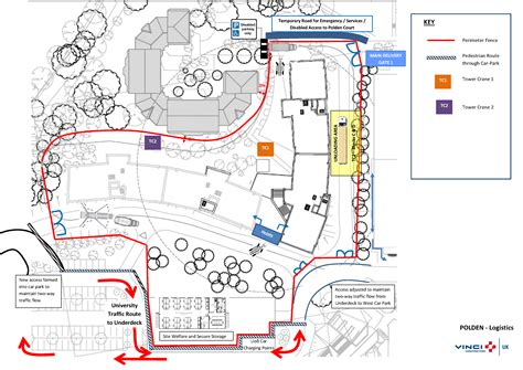 construction site plan polden accommodation construction and access to