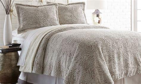 faux sherpa comforter 3 piece reversible faux fur sherpa comforter set groupon