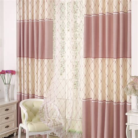 pink print curtains weet pink color plaid and print curtain for kids room