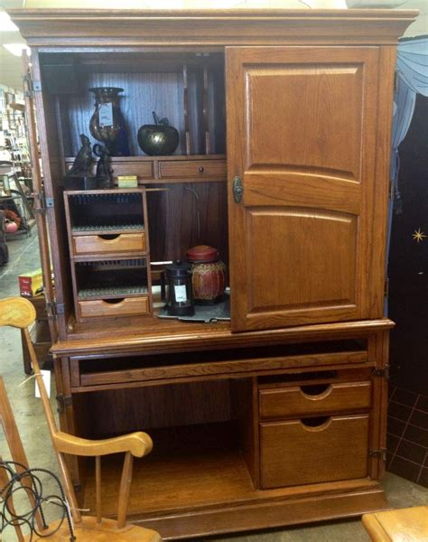 oak veneer computer armoire 199 new arrivals