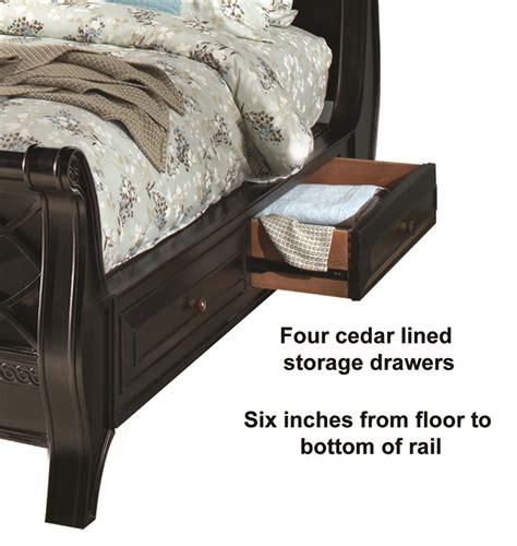 american federal sleigh storage bed bedroom set