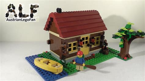 lego log cabin lego creator 5766 log cabin blockhaus lego speed build