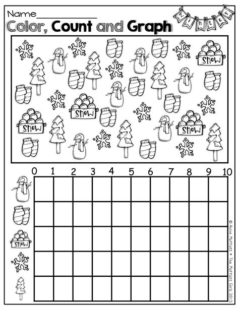 math counting coloring pages color count and graph for winter school ideas stuff