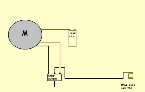 ac motor wiring and capacitor use motor capacitor wiring diagram efcaviation