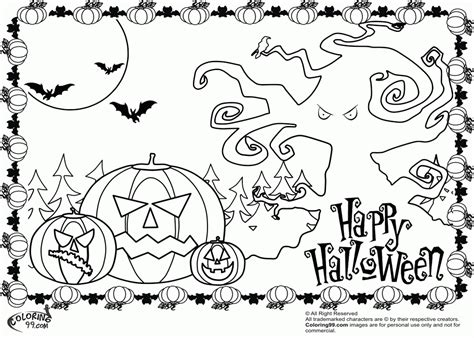 coloring pages halloween very scary scary halloween coloring page coloring home