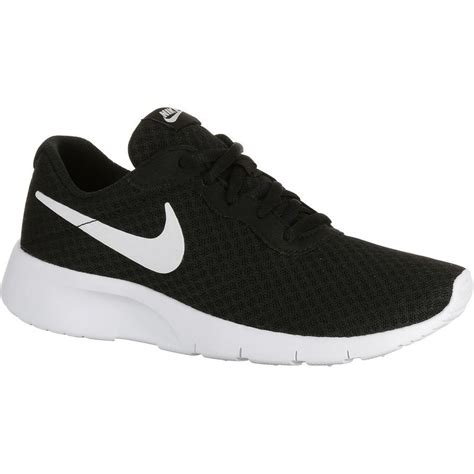 black and white pattern nike trainers nike tanjun black white decathlon