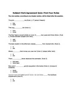 ideas about subject verb agreement quiz and answer key