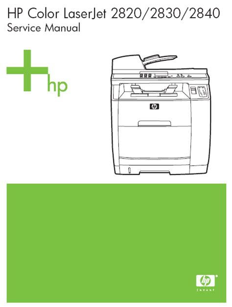 Hp Color Laserjet 2840 Service Manual Pdf Download