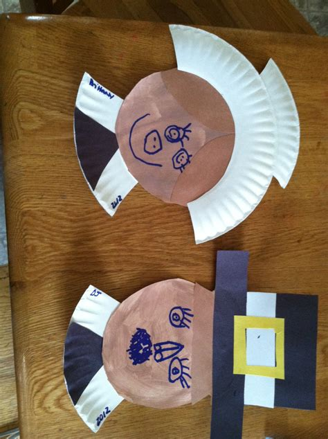 Paper Plate Pilgrim Craft - thanksgiving crafts already to the rescue