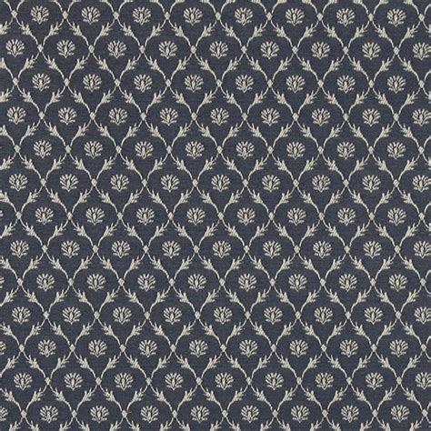 Upholstery Fabric St Louis by Navy Blue Trellis Jacquard Woven Upholstery Fabric By The
