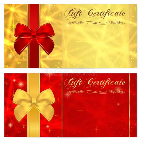 voucher card template gift certificate voucher coupon invitation or gift card