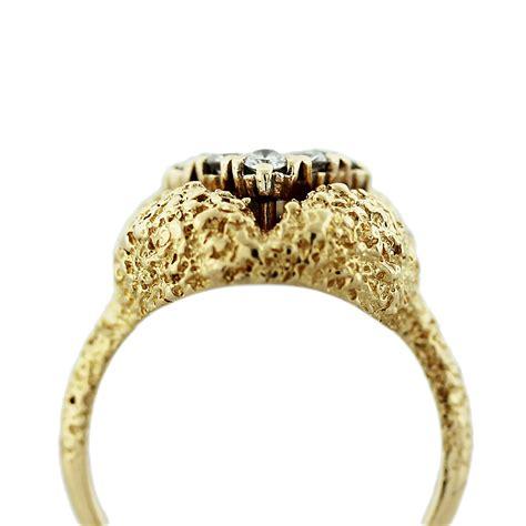 18k yellow gold nugget ring boca raton