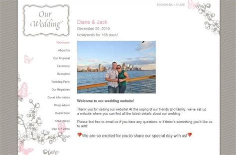 Wedding Knot Website by Wedding Websites Something Pretty