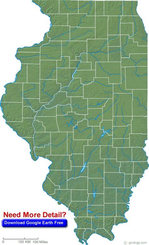 map usa states illinois illinois map