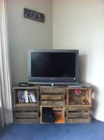 Bookcase Made From Crates Crate Tv Stand On Pinterest Pallet Tv Stands Corner Tv