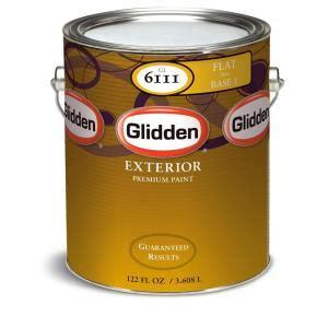 glidden premium 1 gal flat exterior paint gl6112 01 the home depot