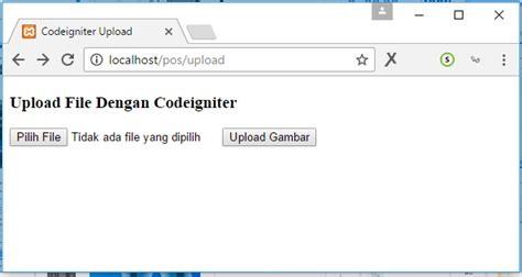 tutorial upload gambar codeigniter membuat file upload di codeigniter tutorial pemrograman