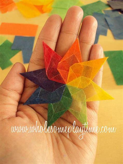 How To Make Kite Paper Flowers - kite paper waldorf window tutorial waldorf