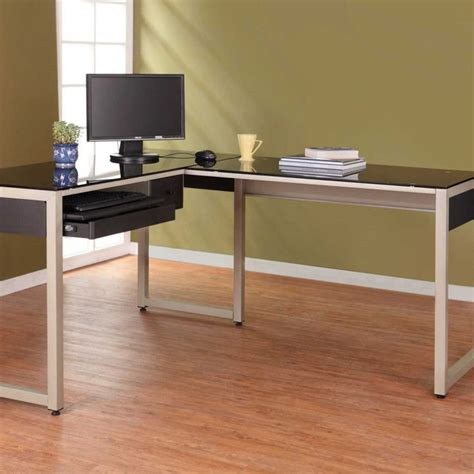 L Shaped Glass Desk With Drawers 25 Best Ideas About Glass Desk On Pinterest Glass Office Desk Glass Top Desk And Desk Space