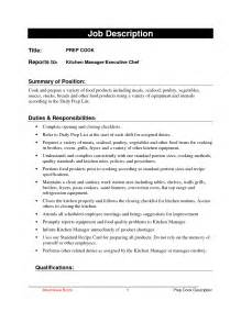 Sample Resume Cook prep cook resume free resume templates