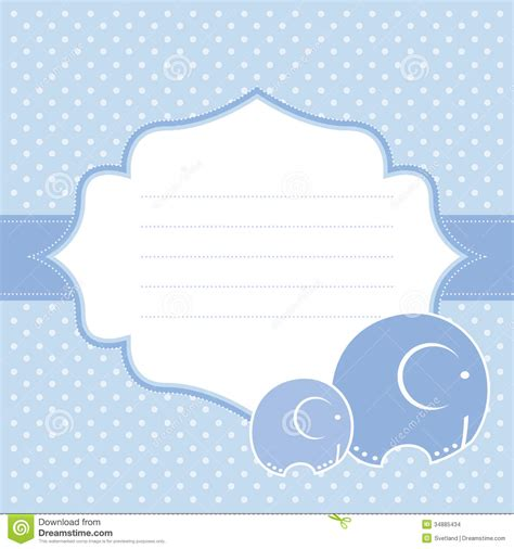 announcement card template baby boy announcement card vector illustration stock