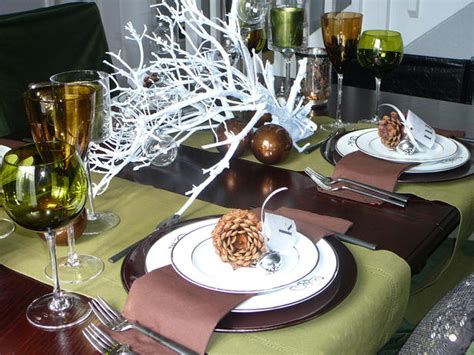 beautiful table settings green and brown bdg style november 2011
