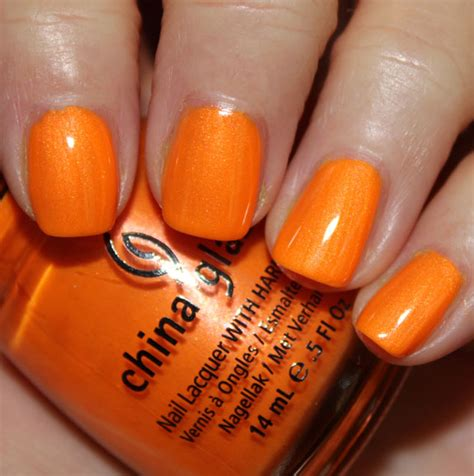 warm orange china glaze summer neons swatches review vy varnish