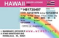 template hawaii drivers license template photoshop