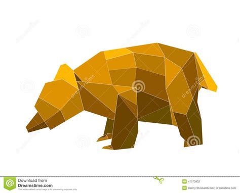 Origami Bears - origami stock illustration image of folding