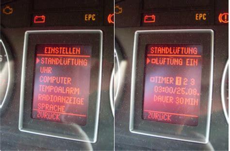 Standheizung Audi A4 Nachr Sten by Standl 252 Ftung Im B6 Und B7 Nachr 252 Sten A4 Freunde
