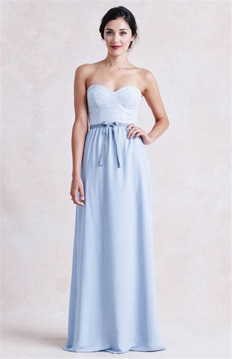 nontraditional bridesmaid chagne and blue 10 beautiful non traditional wedding dresses